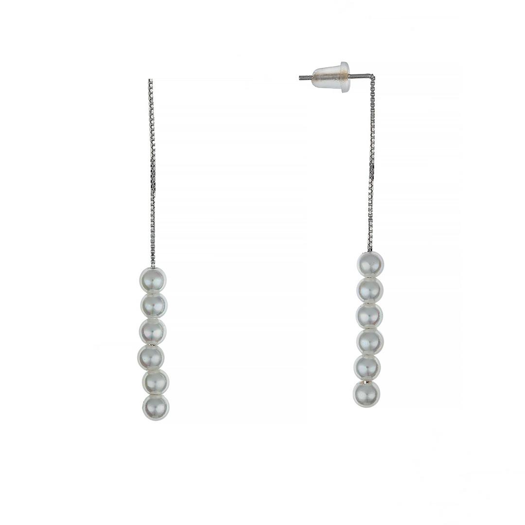 Серебряные серьги с Жемчугом  Brosh Jewellery (Серебро 925)