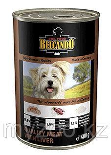 BELCANDO Best Quality Meat&Liver, Белькандо влажный корм для щенков и собак с мясом|печенью, банка 800 гр.