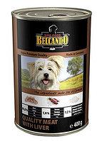 BELCANDO Best Quality Meat&Liver, Белькандо влажный корм для щенков и собак с мясом печенью, банка 800 гр.