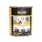 BELCANDO Turkey with Rice, Белькандо влажный корм для собак индейка с рисом, банка 800 гр.