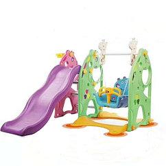 Детский игровой комплекс - горка и качели 2 в 1