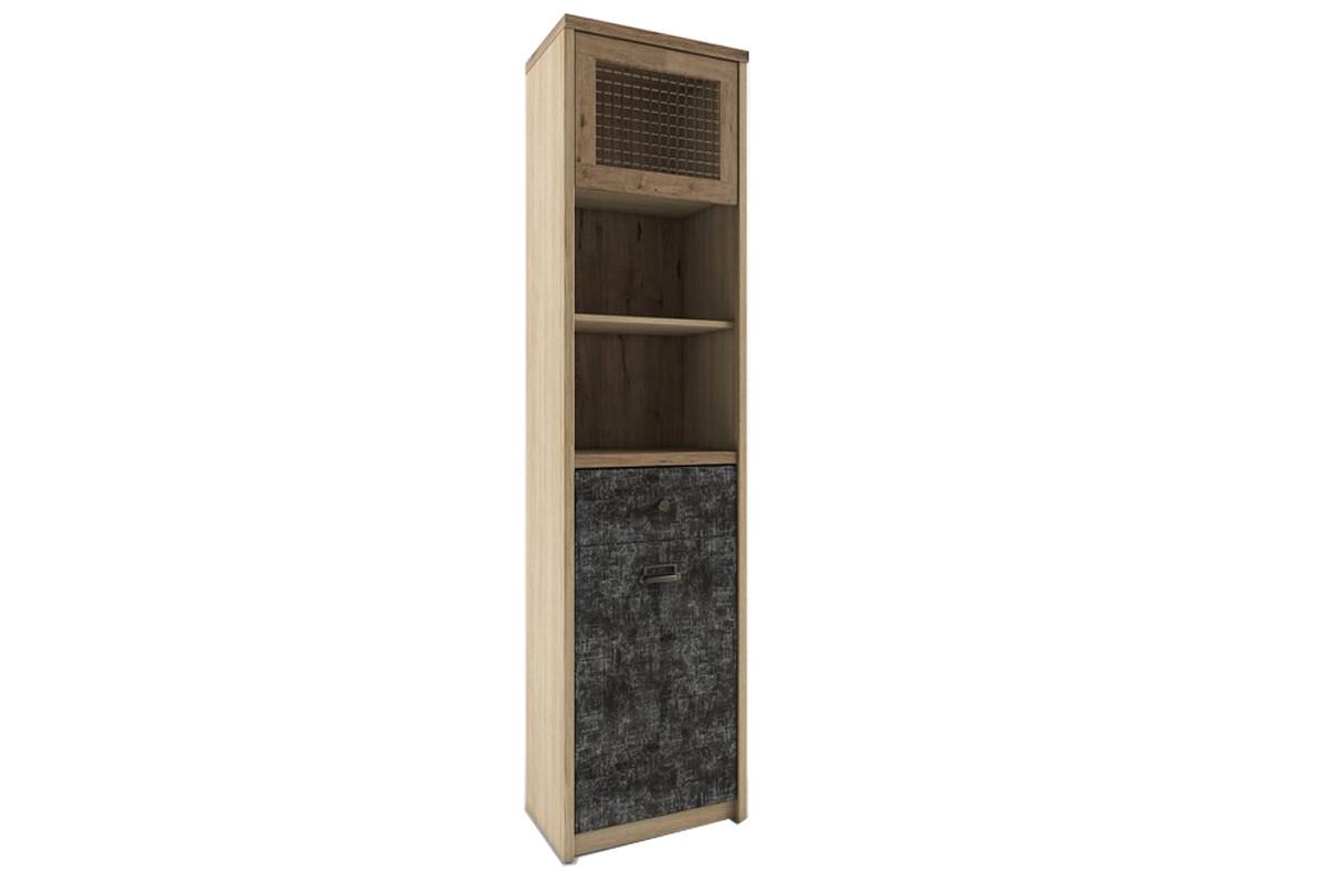 Шкаф витрина 2Д (Diesel 1V1D1S2N/D3), коллекции Дизель, Дуб Мадура/Истамбул, Анрэкс (Беларусь)