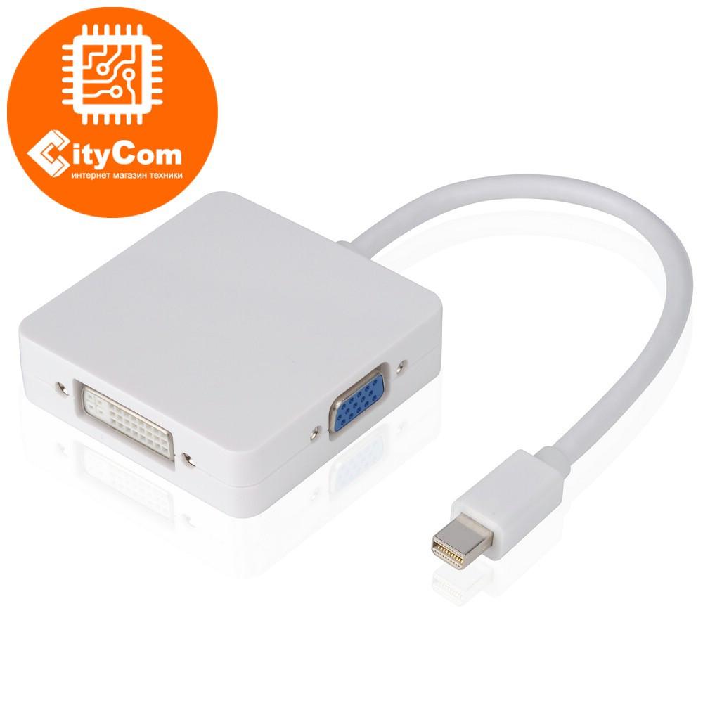 Адаптер (переходник) Mini Display port to DP+DVI+HDMI. Конвертер.