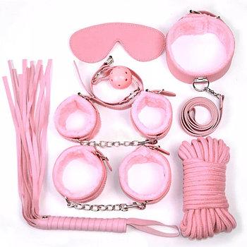 БДСМ набор «Pink Kit», 7 предметов