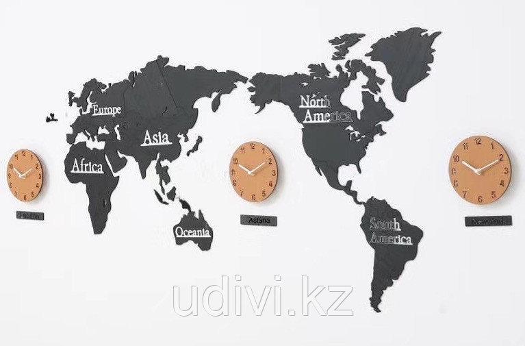 3D настенные часы Карта мира.