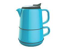 Набор ArtiArt (кружка, чайник + блюдце; синий)