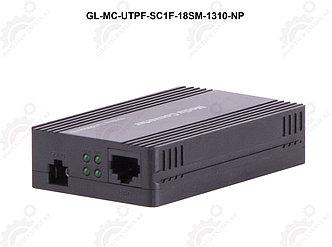 Конвертер GIGALINK UTP, 100Мбит/c, WDM, без LFP, SM, SC, Tx:1310/Rx:1550, 18 дБ (до 20 км) пластик