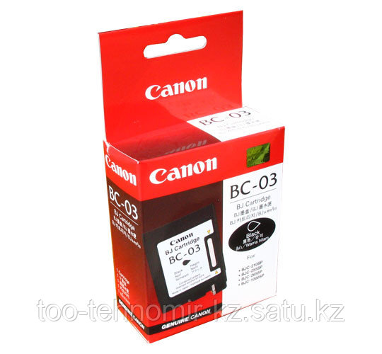 Картридж Canon BC-03 BJC210/255/265/1000 Черный