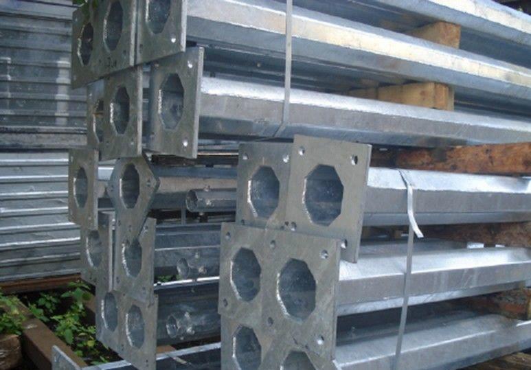 Опора освещения граненая коническая металлическая горячего и холодного цинкования типа ОГК 6, 8, 9, 10, 11, 12