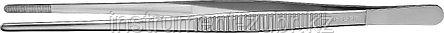 Пинцет ЗУБР д/электроники и точной механики, нерж. сталь, антимагнит, прямой, закругленные губки, 250мм, фото 2