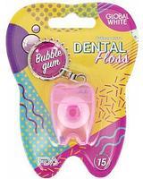 """Global White Зубная нить Dental Floss """"Bubble Gum"""" 15 м"""