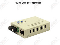 Конвертер GIGALINK UTP, 100Мбит/c, WDM, без LFP, SM, SC, Tx:1550/Rx:1310, 18 дБ (до 30 км) пластик