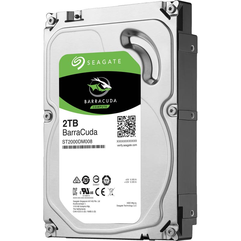 Жесткий диск Seagate Barraсuda, 2000 GB HDD SATA ST2000DM008, 7200rpm, 256MB cache, SATA 6.0 Gb/s