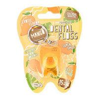 """Global White Зубная нить Dental Floss """"Mango"""" 15 м"""