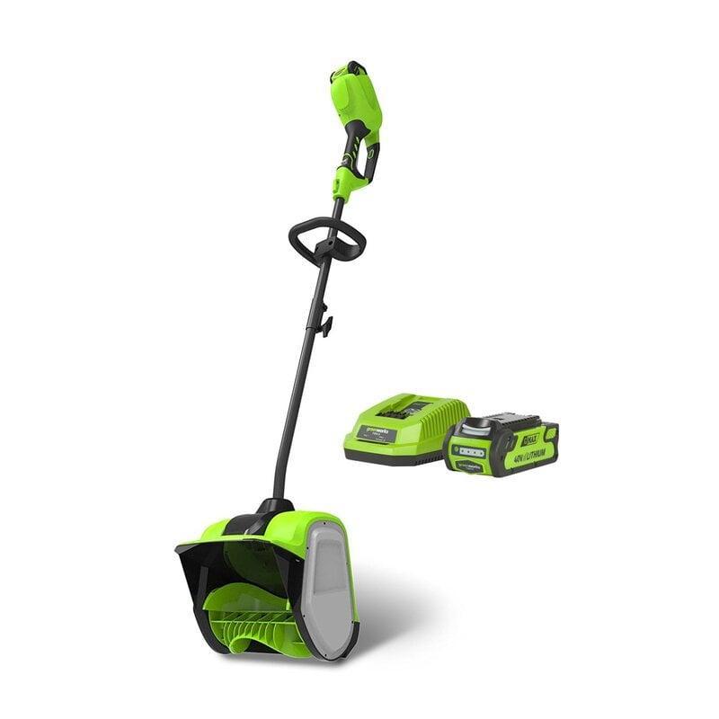Снегоуборщик аккумуляторный Greenworks, GD40SSK2, 40V, 30 см, (1хАКБ 2 А.ч и ЗУ) 2600807UA