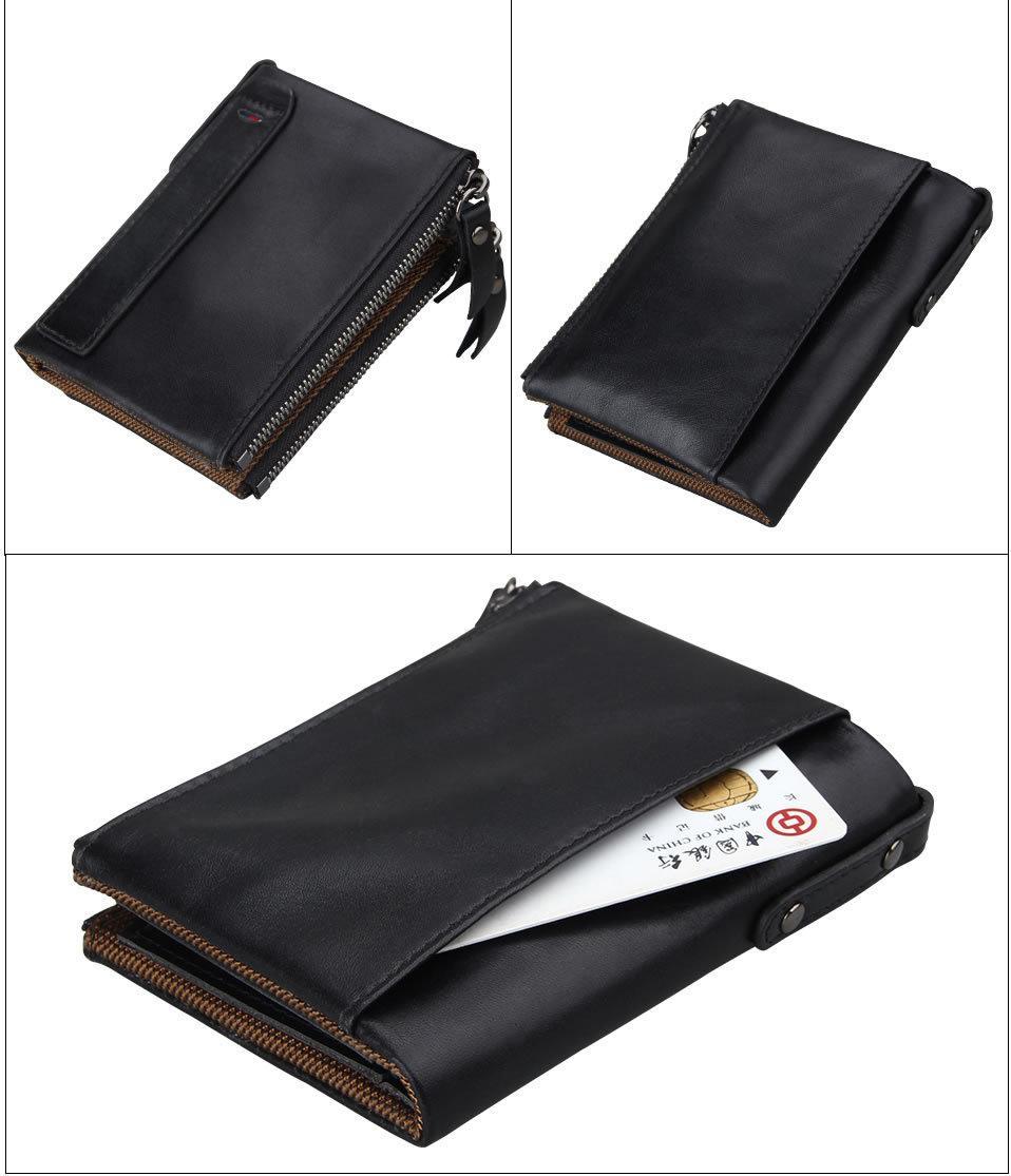 Кожаный кошелек от воровства с карточек - Сохраните свои деньги!