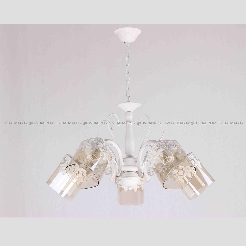 Классическая люстра на 5 ламп Белая