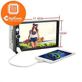 7 дюймовый TFT дисплей (440 x 240) Поддержка видео форматов: RMVB / RM / FLV / 3GP / MPEG / DVIX / XVID / DTA