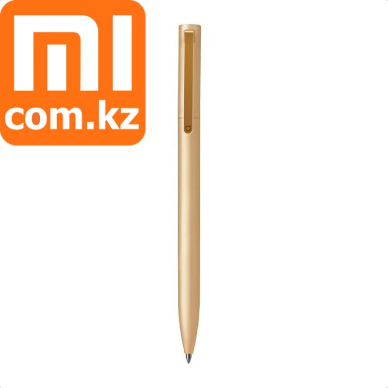 Гелевая ручка в золотистом корпусе, черная паста Xiaomi Mi Gel Pen Metal, Gold. Оригинал.