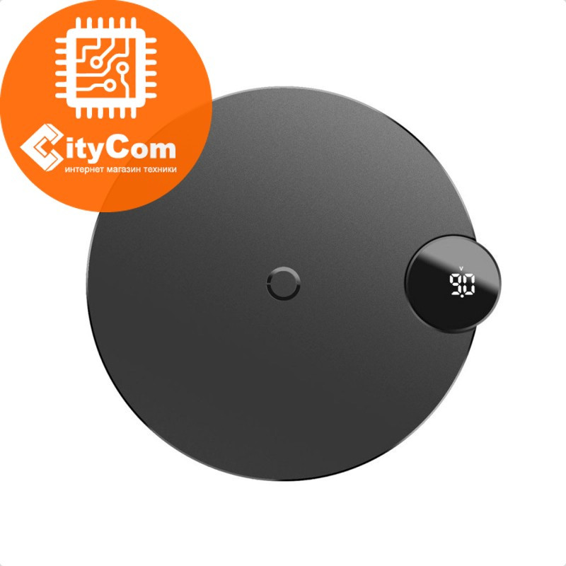 Беспроводное зарядное устройство для смартфоновBaseus LED Display Wireless Charger WXSX-02. Оригинал Арт.6084