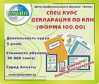 Декларация по КПН. Обучение форма 100.00. Годовая отчетность. Курсы.