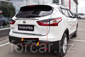 Накладки на задние фонари   Nissan Qashqai 2014-