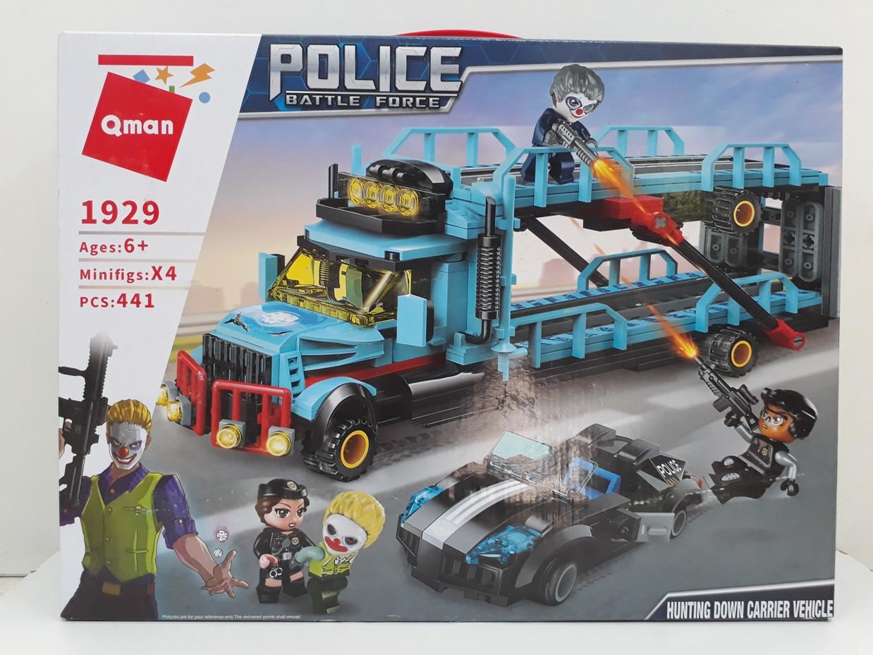 Конструктор Qman 1929 441 pcs. Police Battle Force. Джокер