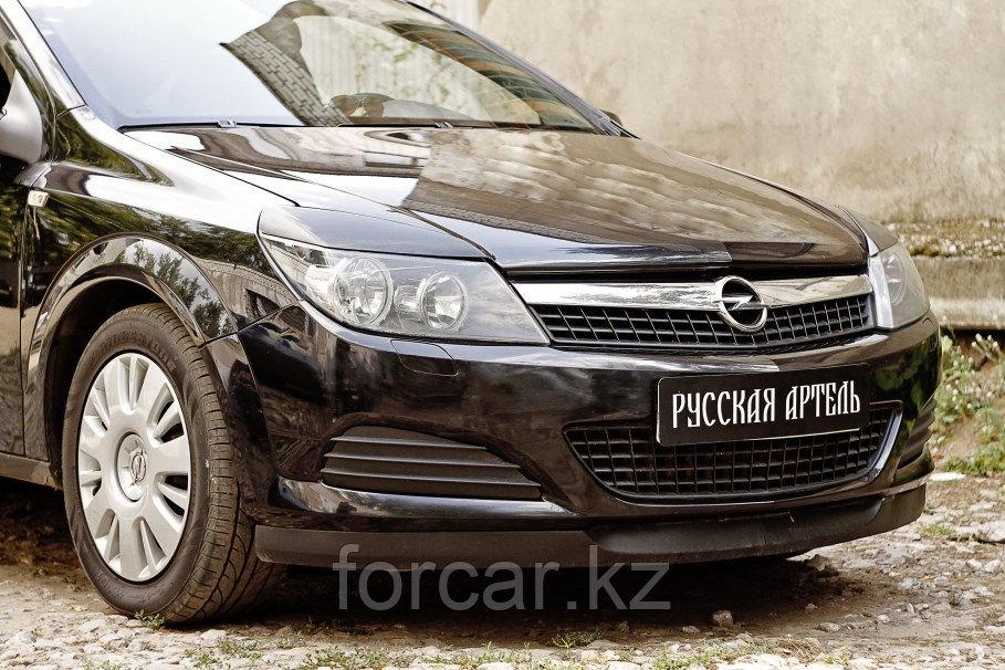 Накладки на передние фары (реснички) Opel Astra 2007-2009