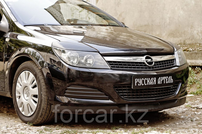 Накладки на передние фары (реснички) Opel Astra 2007-2009, фото 2