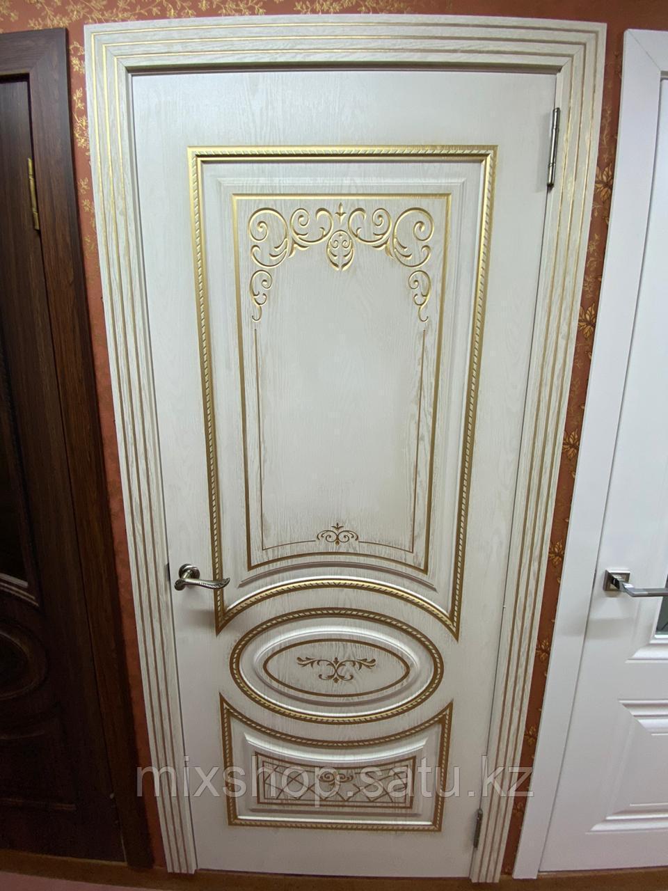 Дверь Эко Шпон Новелла (ясень золотой/золото ) ПГ