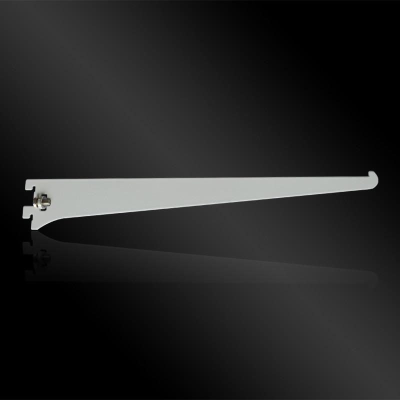 Полкодержадель для стекла на Vertical белый, одинарный, L=300mm, T=2mm