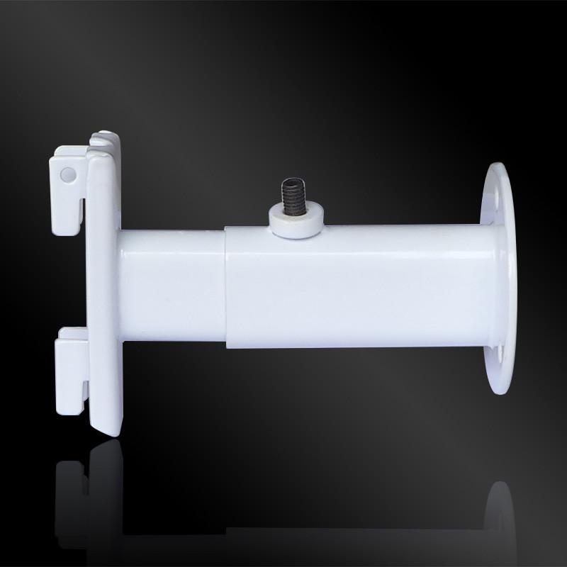 Крепление пристенное белое, на 38*38mm трубу, L=70mm