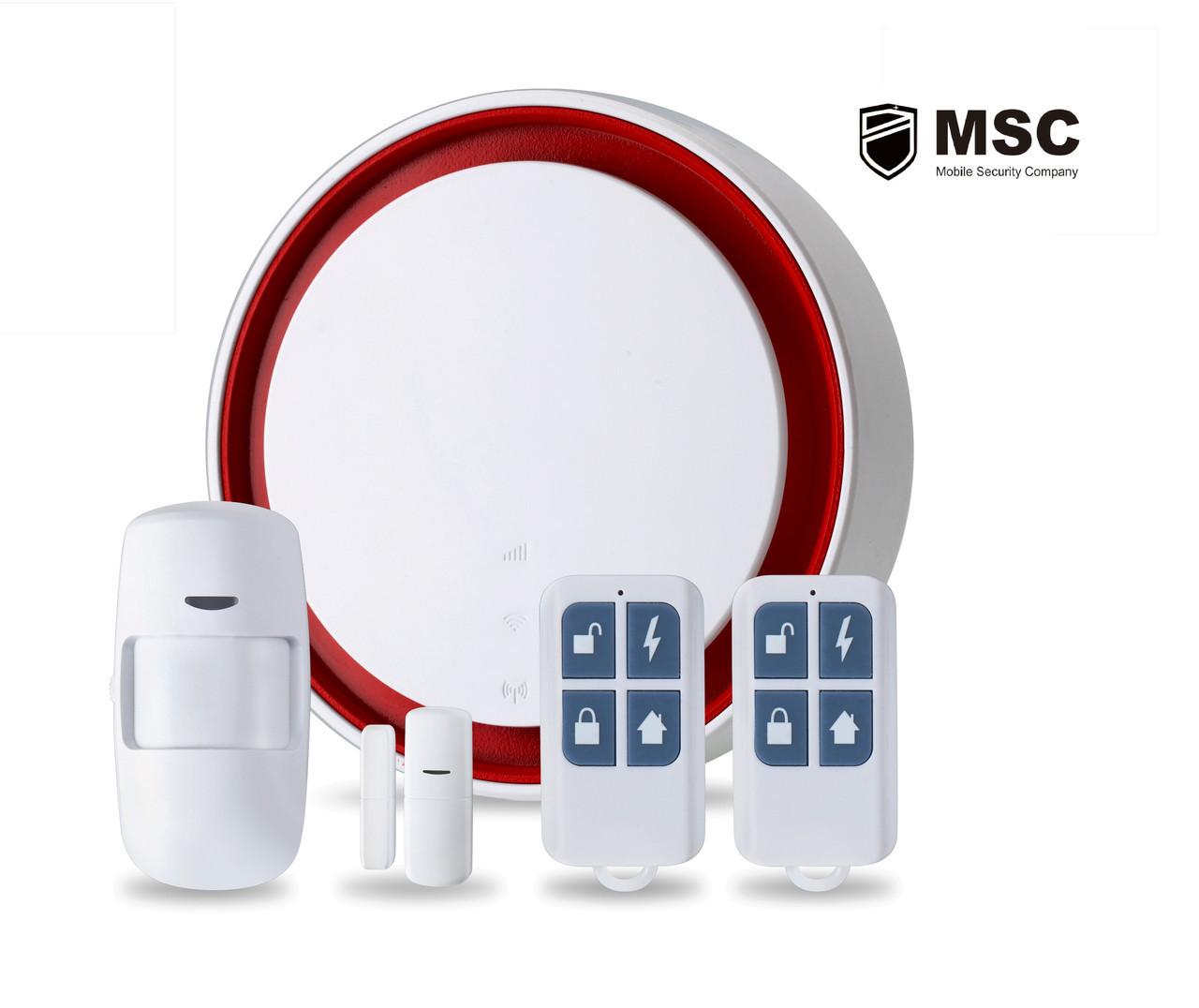 Комплект Wi-Fi GSM сигнализации с функцией Умного Дома