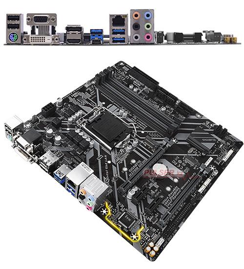 Материнская плата Gigabyte H370M DS3H MB Socket1151, MATX, iH370 (VGA+DVI+HDMI+DP, SB, GNIC), 4DDR4, 2PCIx16,