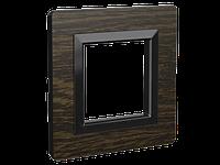 "Рамка из натурального дерева, ""Avanti"", венге, 2 модуля"