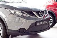 Зимняя заглушка решетки переднего бампера Nissan Qashqai 2014-, фото 2