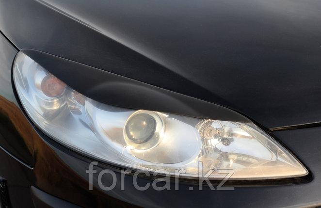 Накладки на передние фары (Реснички) Peugeot 407 2004-2010, фото 2