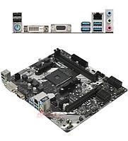 Материнская плата ASRock A320M-DVS R4.0 MB Socket AM4, MATX, AMD A320 (DVI+VGA, SB, GNIC) 2DDR4, PCIx16, PCIx1, фото 1