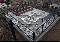 Установка ограды, стола, лавки, навеса на кладбище