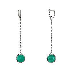 Серебряные серьги с натуральными камнями Brosh Jewellery (Серебро 925) (черный Оникс)