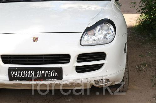 Накладки на передние фары (Реснички) Porsche Cayenne 2002-2010, фото 2