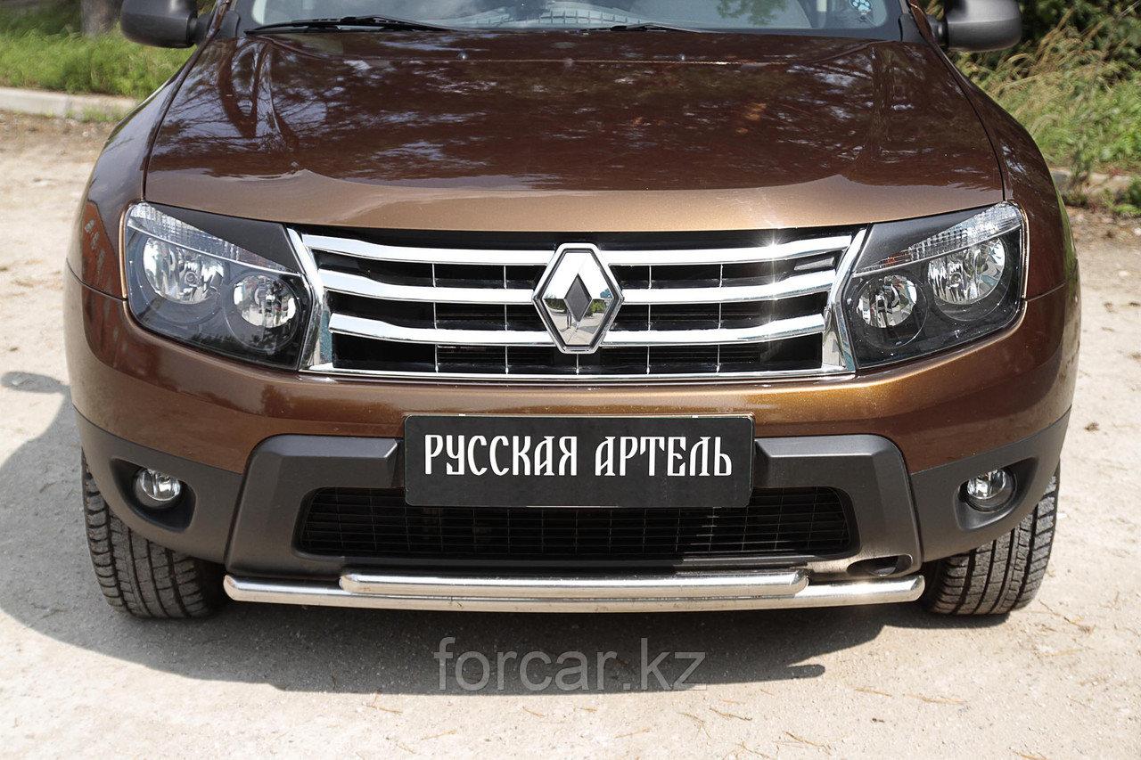 Накладки на передние фары (Реснички) Renault Duster 2010-