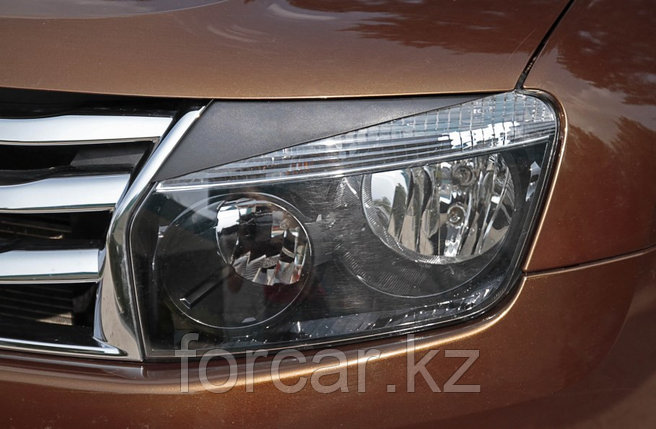 Накладки на передние фары (Реснички) Renault Duster 2010-, фото 2