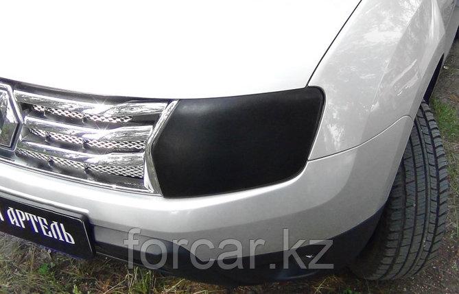 Накладки на передние фары для самостоятельного изготовления ресничек Renault Duster 2010-, фото 2