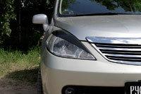 Накладки на передние фары (реснички) Nissan Tiida 2004-2007, фото 2