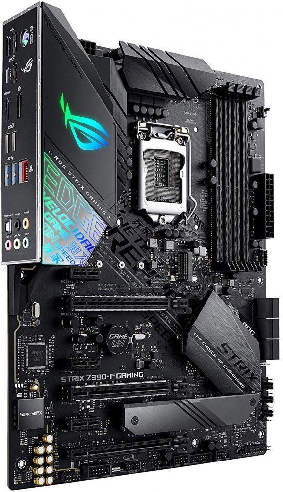 Материнская плата Asus Strix Z390-F Gaming MB Socket1151, ATX, iZ390 (HDMI+DP, GNIC), 4DDR4, 3PCIx16, 3PCI