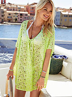 Пляжное Зеленое платье сетка