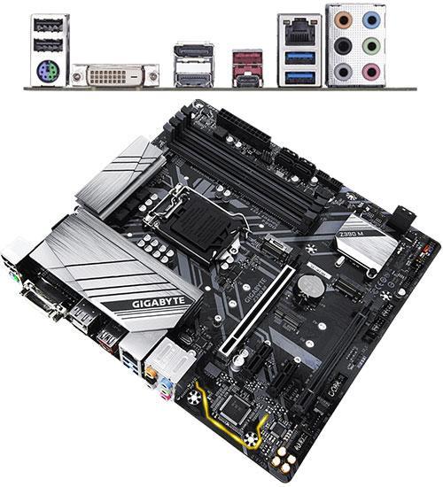 Материнская плата Gigabyte Z390 M MB Socket1151, MATX, iZ390 (DVI+HDMI+DP, SB, GNIC), 4DDR4, 2PCIx16, 2PCIx1,