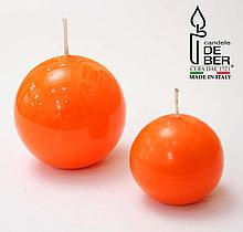 Свеча круглая Orange. Ручная работа, Италия
