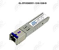 Модуль GIGALINK SFP, WDM, 155Mb/1,25Gb/s, одно волокно SM,SC, Tx:1310/Rx:1550нм, DDM,8 дБ(до 3 км)